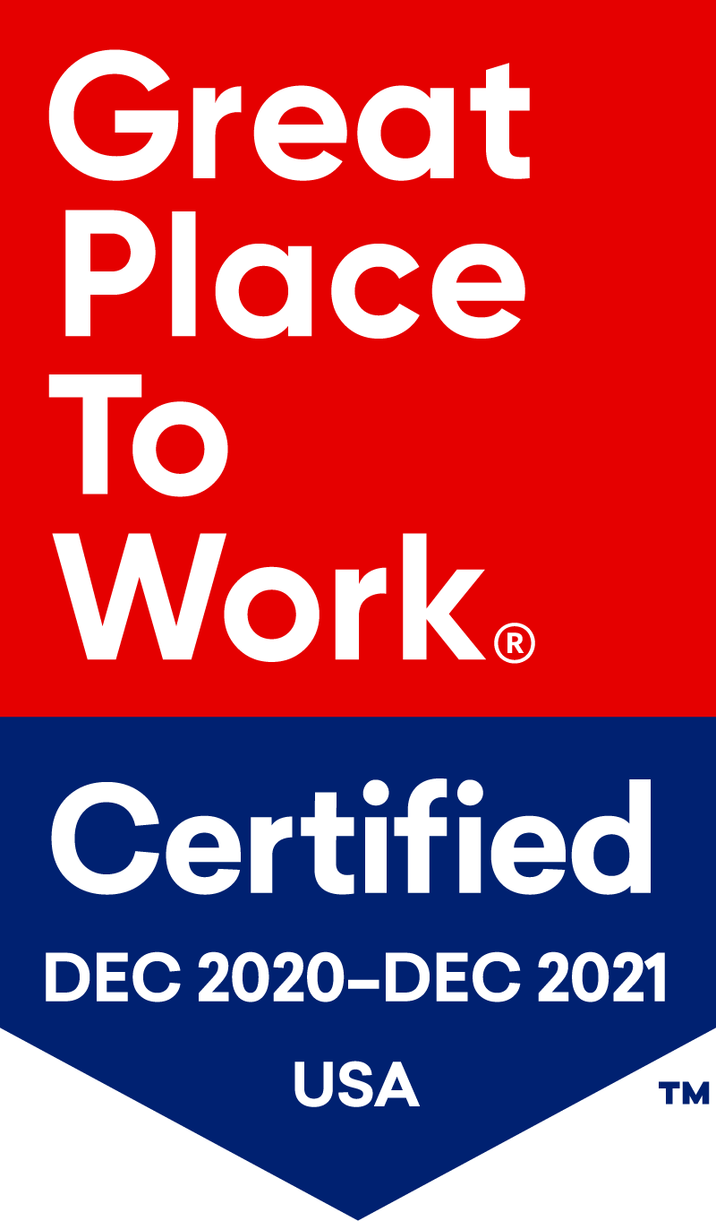 Great Place To Work® Certified Dec 2020-Dec 2021 USA